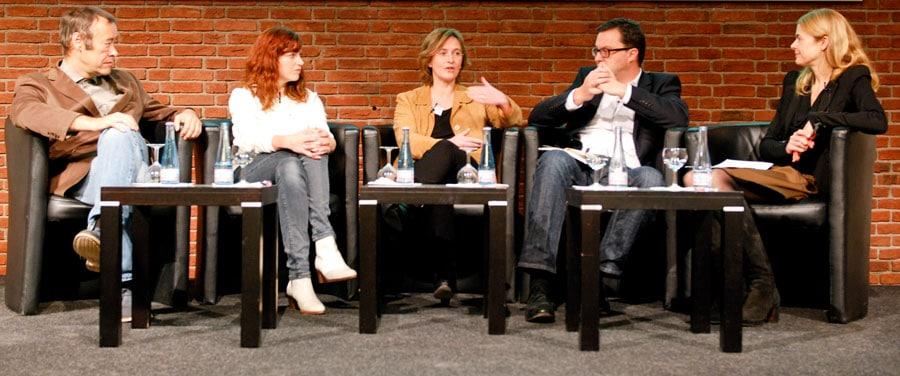 Von links nach rechts: Thomas Krüger, Malin Büttner, Louise Carleton-Gertsch, Holger Knöferl und Susanne Fengler. Foto: Gerd Metzner