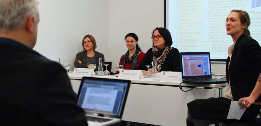 Der dritte Workshop: Im Zentrum stand die Politik. Foto: Gerd Metzner