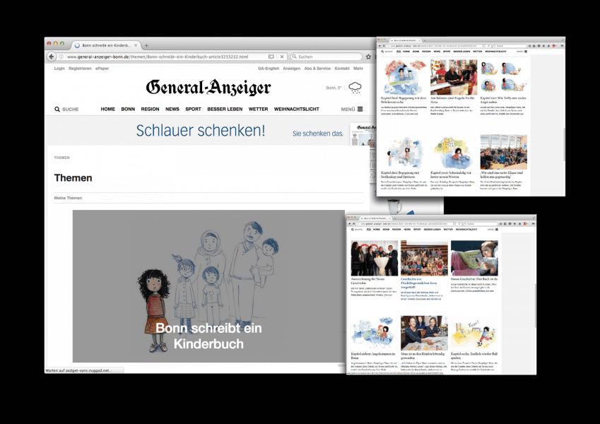 Bonn schreibt ein Kinderbuch / Sima – Ankommen in Bonn vom Bonner General-Anzeiger