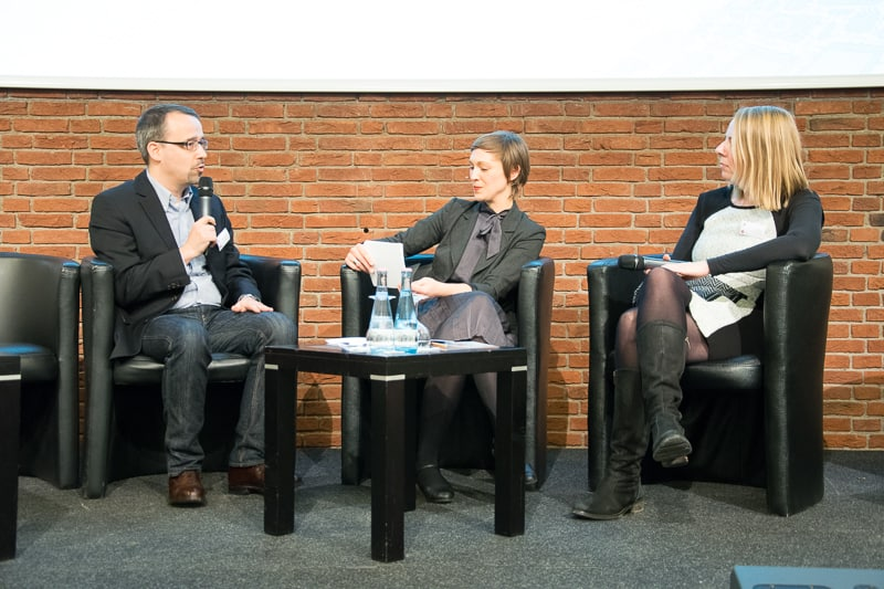 Georg Konstantinow, SHZ, Moderatorin Anna Hoff und Ina Reinhart, SHZ Foto: Gerd Metzner