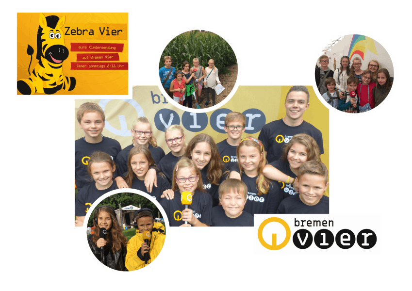 """Das Kinderreporter-Team der Radiosendung """"Zebra Vier"""" Fotos: Bremen Vier"""